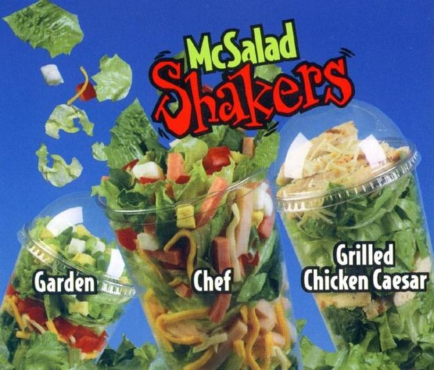 Discontinued McDonalds Food Items You Forgot Existed UNILAD salad12