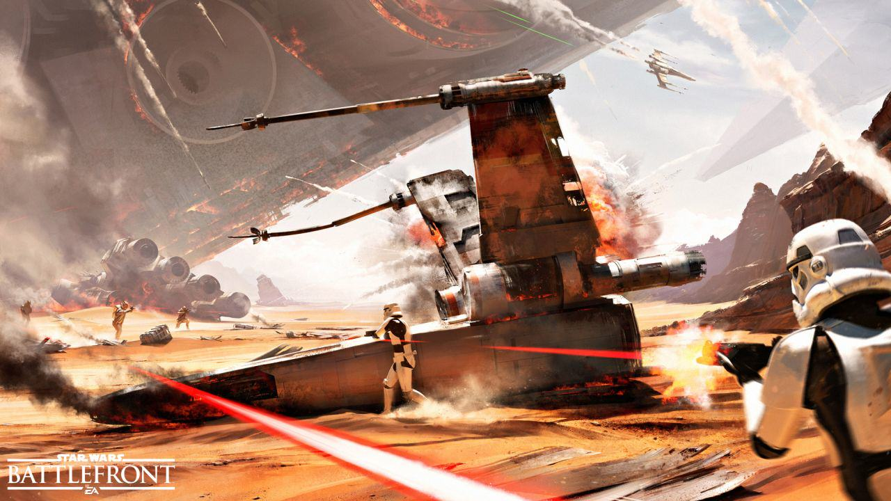 DICE Insist Star Wars Battlefront Is Not Built Around Microtransactions UNILAD star wars battlefront jakku 24