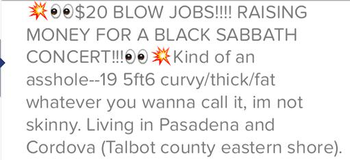 Tinder Girl Offers Blow Jobs For $20 To Raise Money For Black Sabbath Tickets UNILAD tindbj124830
