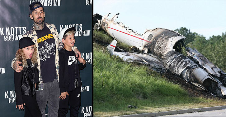 Travis Barker Says His Daughter Predicted Plane Crash Which Nearly Killed Him UNILAD travis crash 7876926137