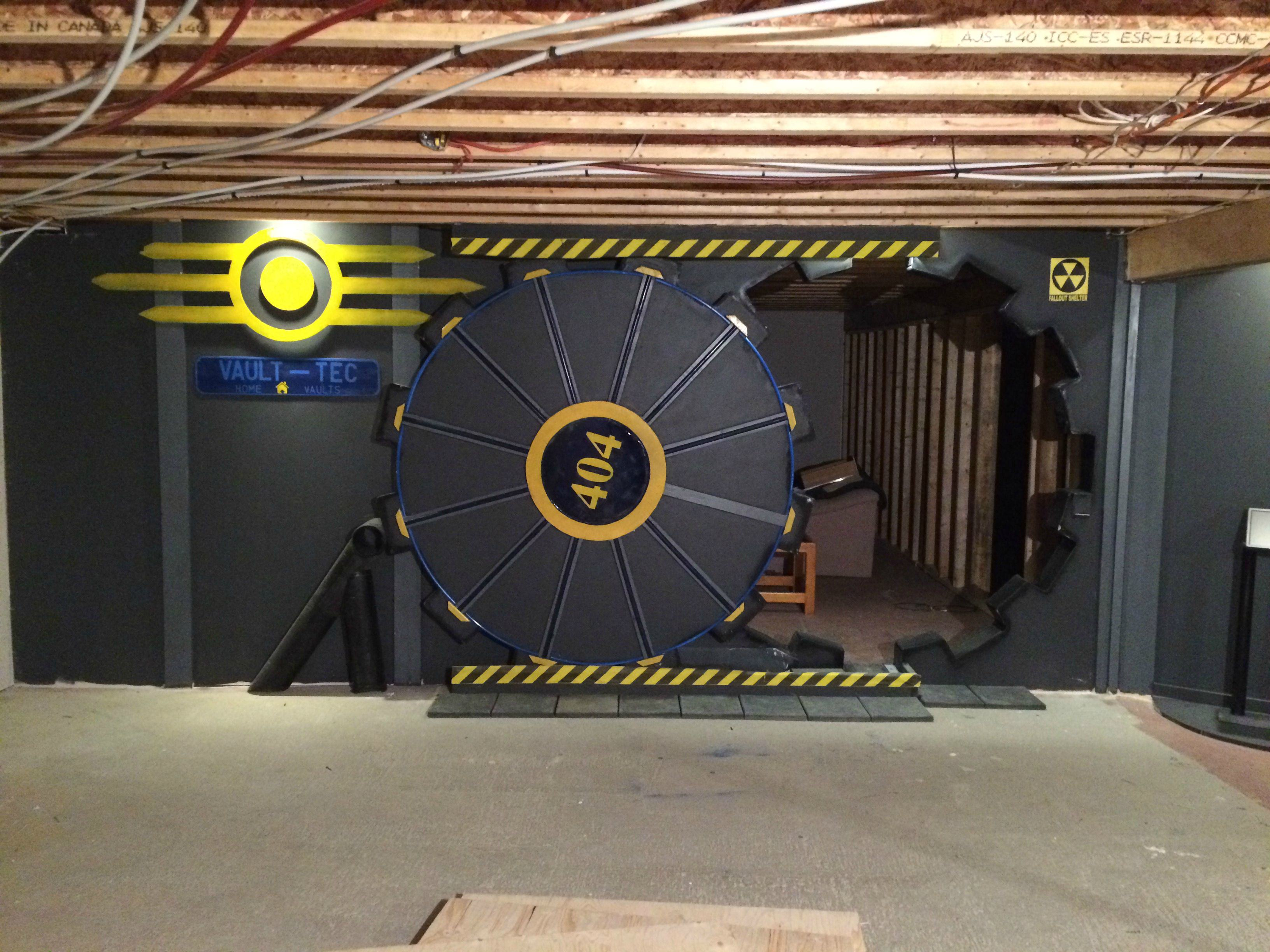 This Guy Built A Fallout Vault Door For His Basement Gaming Room UNILAD vQ5tQQQ3