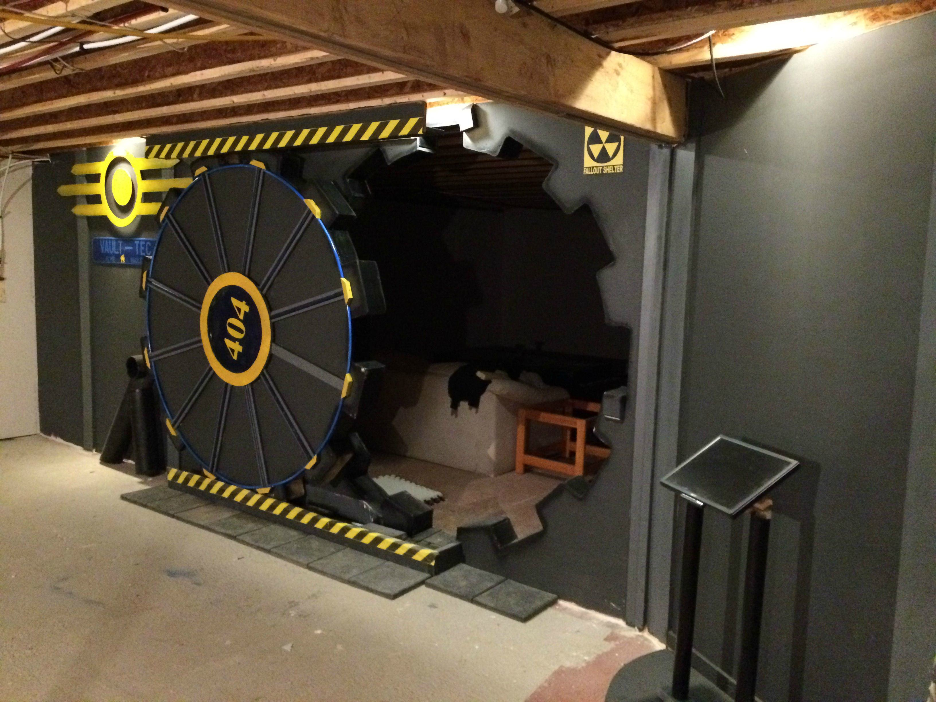 This Guy Built A Fallout Vault Door For His Basement Gaming Room UNILAD w2PumRZ7
