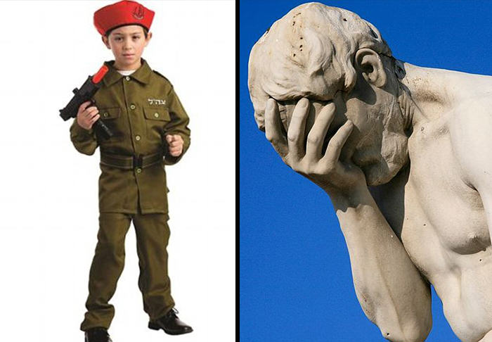 walmart is selling a childrens israeli soldier halloween costume