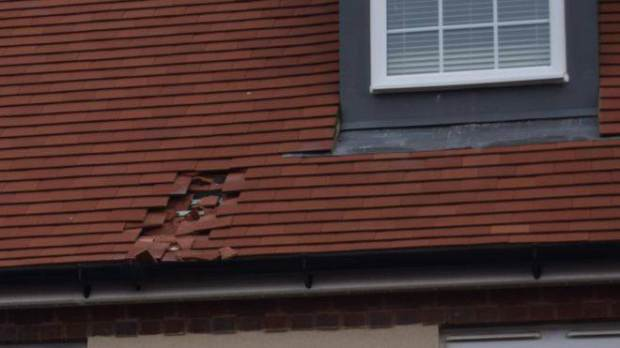 Frozen Poo Bomb Smashes Hole In Couples Roof UNILAD wessex news agancy4151