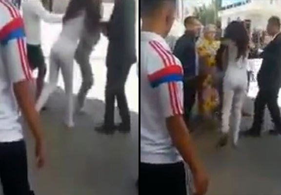 Scandalously Dressed Women Surrounded And Attacked By Angry Mob UNILAD women dragged WEB81296