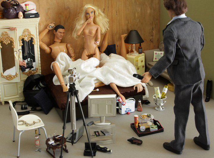 Artist Creates Images Of Barbie In Darkest, Most Bizarre And NSFW Situations 223289 216020971751008 493566 n