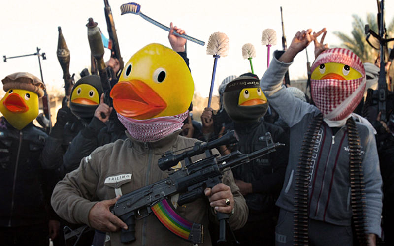 People Are Trolling The Shit Out Of ISIS Using Rubber Ducks 36