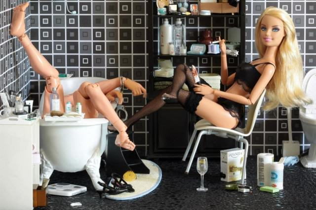 Artist Creates Images Of Barbie In Darkest, Most Bizarre And NSFW Situations 48119 560545157298586 1872283650 n 640x426