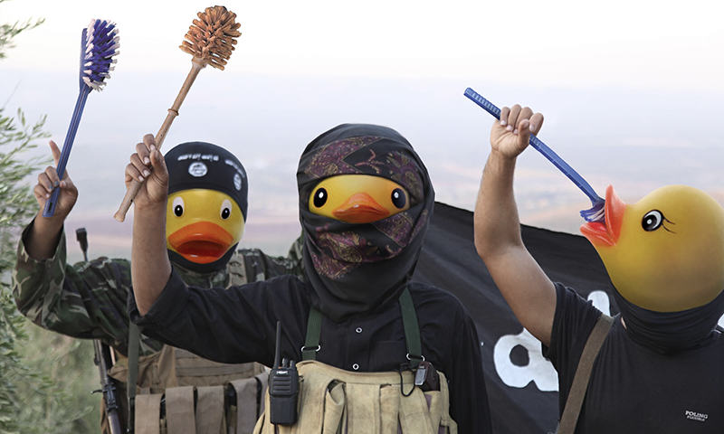 people are trolling the shit out of isis using rubber ducks