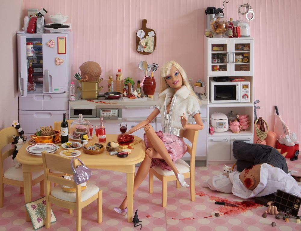 Artist Creates Images Of Barbie In Darkest, Most Bizarre And NSFW Situations Mariel Clayton   For you Valentine a piece of my heart  well  not MY heart