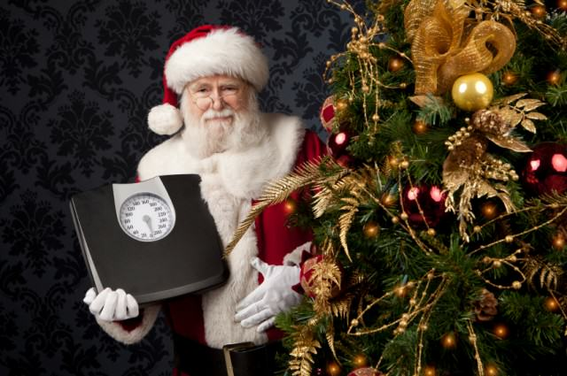 This Is How Many Calories Youll Consume Over Christmas And New Year Santa with scales 640x425