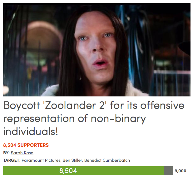 Petition Calls For Boycott Of Zoolander 2 Over Benedict Cumberbatchs Transphobic Character Screen Shot 2015 11 22 at 23.36.51