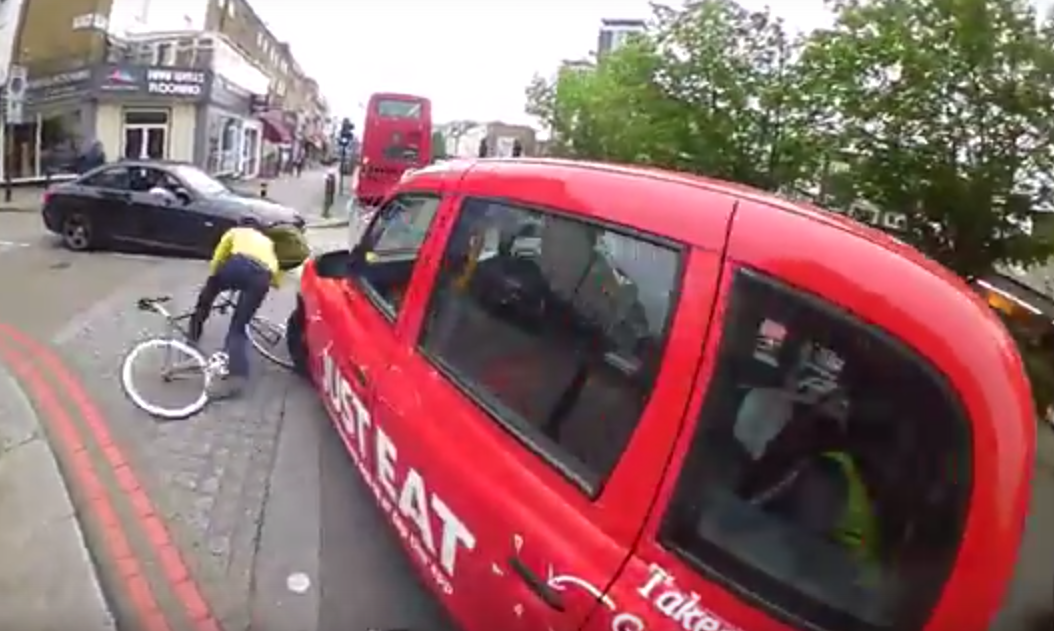 Online Debate Rages After Cyclist Is Knocked Off His Bike By Taxi Screen Shot 2015 11 25 at 00.14.38