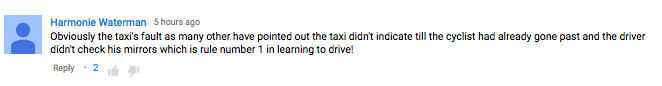 Online Debate Rages After Cyclist Is Knocked Off His Bike By Taxi Screen Shot 2015 11 25 at 00.48.26