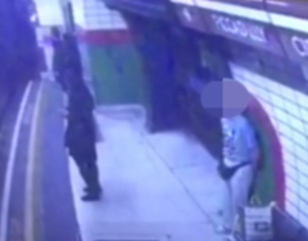 Shocking Footage Shows Man Push Young Woman Into Oncoming Tube Train UNILAD 015369