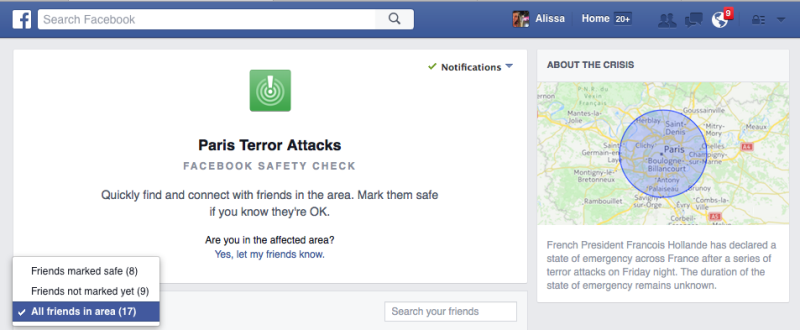 Facebook Safety Check Feature Lets People Report They Are Safe In Paris UNILAD 151780106927732560182795