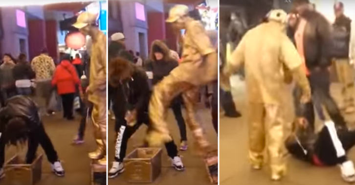 Guy Tries To Steal Human Statues Money, Instantly Regrets It UNILAD 50135Thumb 278720