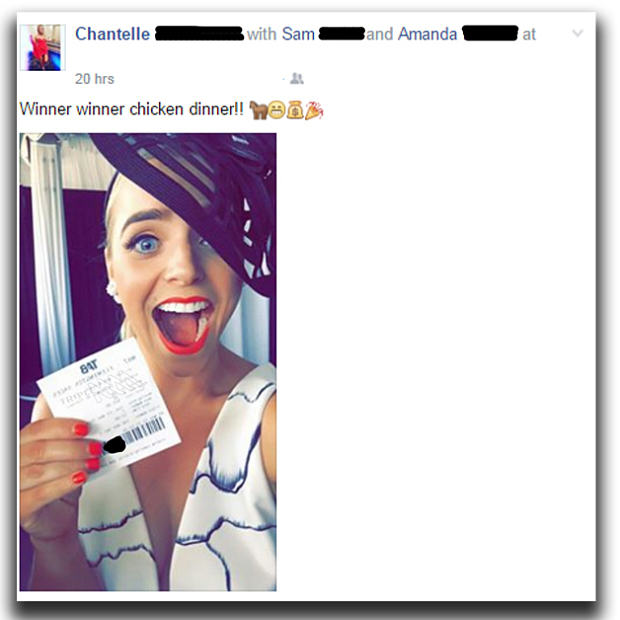 Woman Posts Her Winning Horse Race Ticket On Facebook, Friend Steals Cash UNILAD 93373ooktriplem49734
