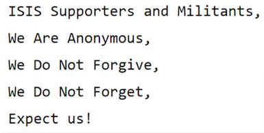 Anonymous Strike First Blow In War Against ISIS UNILAD ANONTWEET24809