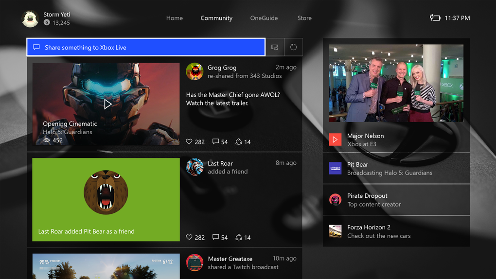 Microsoft Start Rolling Out New Xbox One Dashboard With Overhauled Design UNILAD Community Home.035636
