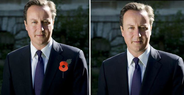 No 10 Photoshop Poppy Onto Photo Of David Cameron, Internet Reacts Brilliantly UNILAD FaceThumb77543