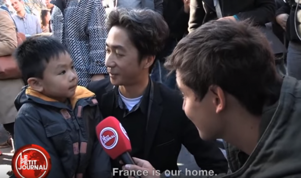 Video shows dad explain Paris attacks to son in incredibly