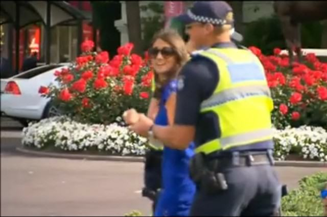 Aussie Woman Pushes Police Officer Into The Bushes, Is Instantly Arrested UNILAD Melbourne Cup97455 640x426