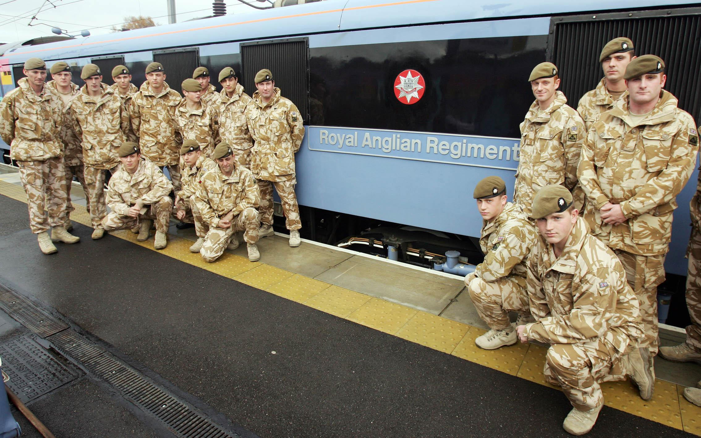 Train named after Royal Anglian Regiment