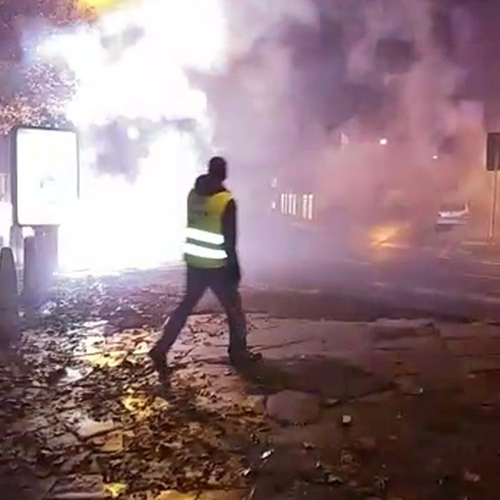 Footage Shows Street Turn Into War Zone By Dangerous Fireworks Display UNILAD RPY BANG 0891208
