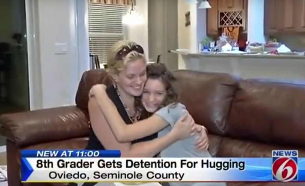 Girl, 14, Gets Detention For Hugging A Friend Having A Bad Day UNILAD Screen Shot 2015 11 05 at 16.25.4475234