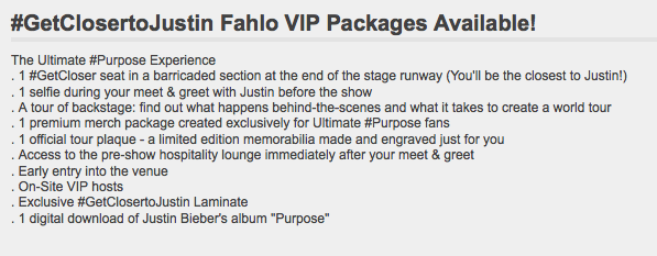Fancy a vip selfie with justin bieber it will only cost two grand fancy a vip selfie with justin bieber it will only cost two grand unilad screen ticketmaster m4hsunfo