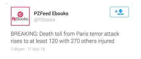 Twitter Account Tweeted About Paris Attacks Two Days Before They Happened UNILAD TWEET167932