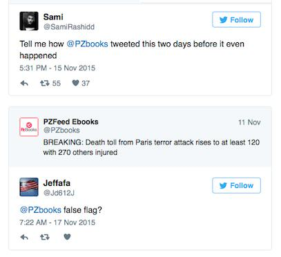 Twitter Account Tweeted About Paris Attacks Two Days Before They Happened UNILAD TWEET224114