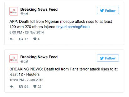 Twitter Account Tweeted About Paris Attacks Two Days Before They Happened UNILAD TWEET385361