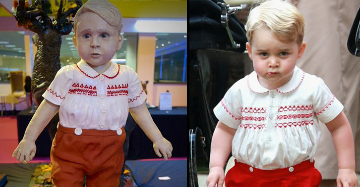 Amateur Baker Makes Uncomfortably Realistic Prince George Cake In Competition UNILAD cake500840770