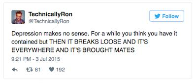 Guy Tackles Depression By Relentlessly Taking The Piss Out Of It On Twitter UNILAD depression1049358