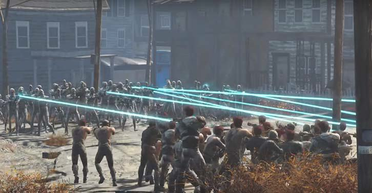 50 Synths Vs 50 Raiders In Fallout 4 Battle Royale UNILAD fallout2288172314