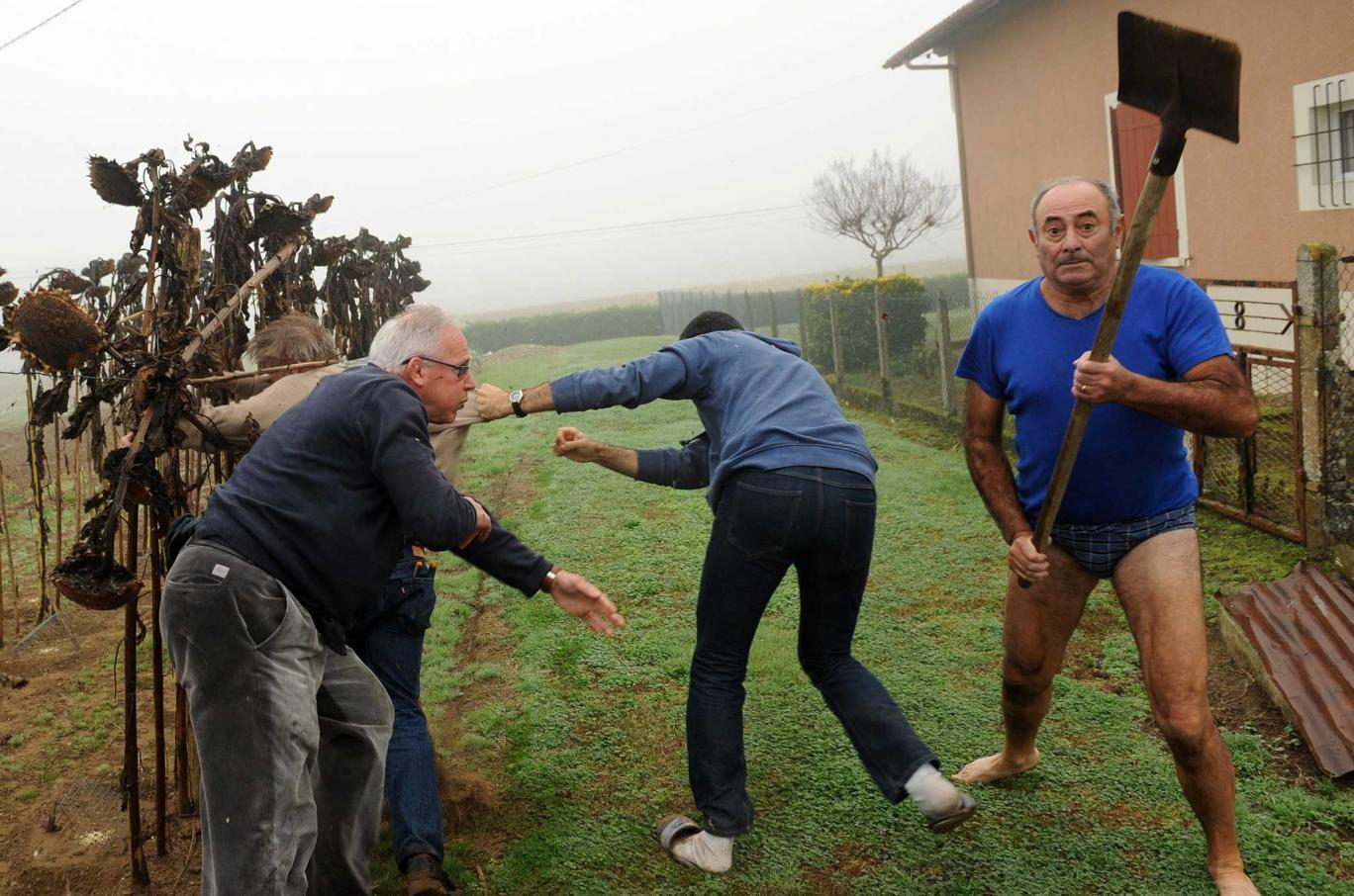 Man In Pants Who Attacked Journalists With Shovel Gets Photoshop Treatment UNILAD getty36399