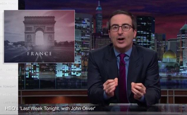 John Oliver Delivers Epic Tirade Against Terrorists Responsible For Paris Attacks UNILAD john oliver paris 125700