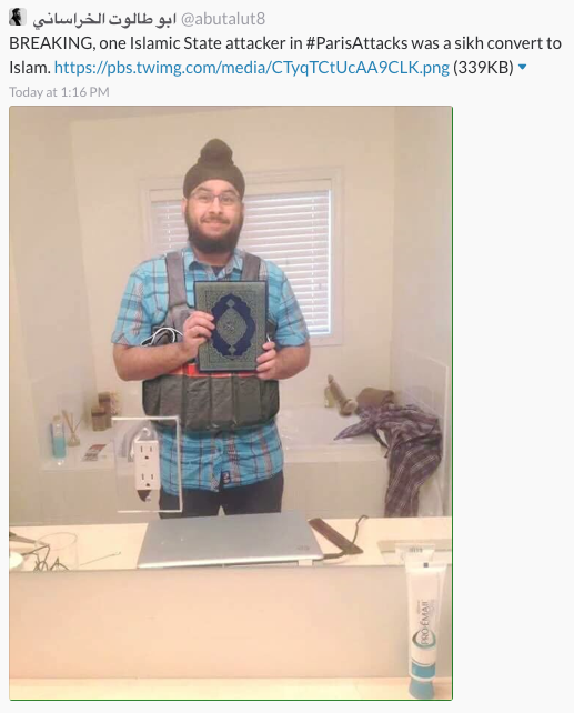 Someone Photoshopped An Innocent Sikh Man To Frame Him For Paris Attacks UNILAD paris attack fake 155680