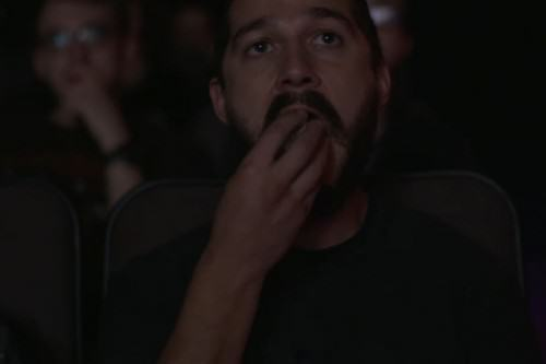 Shia Labeouf Is Livestreaming Shia Labeouf Watching Shia Labeouf Films UNILAD shia eating 500x33377613