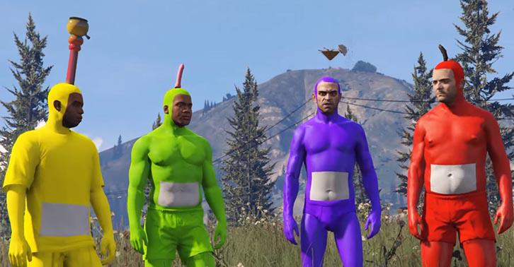 This Hero Has Spectacularly Recreated The Teletubbies Intro In GTA V UNILAD tubbies738415219