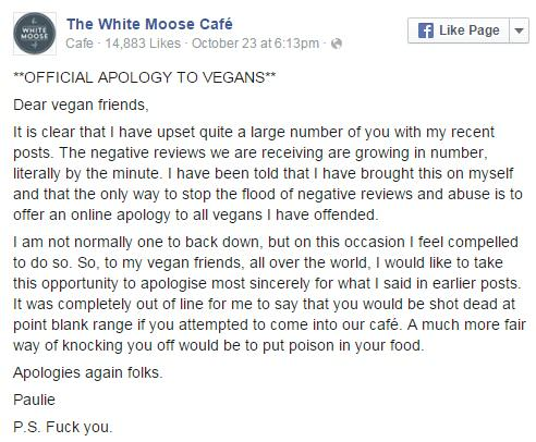 Vegans Kick Off With Restaurant Owner, Shit Escalates Quickly UNILAD vegans 745873
