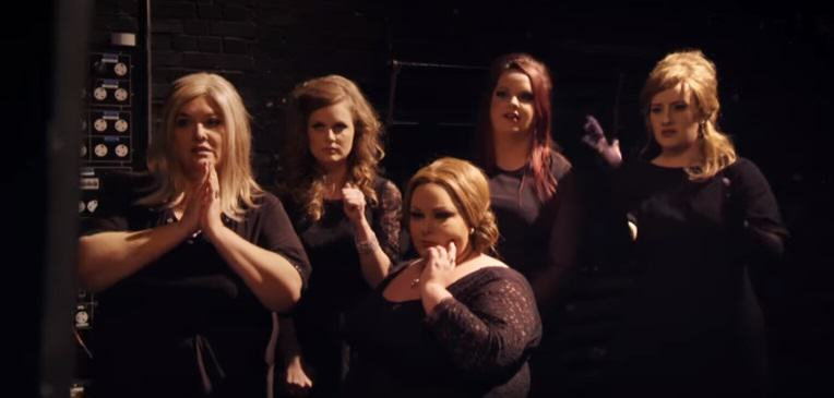 Adele Disguises Herself As An Adele Impersonator, Fellow Adele Impersonators Freak Out adele 1
