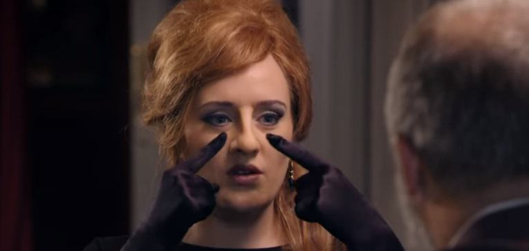 Adele Disguises Herself As An Adele Impersonator, Fellow Adele Impersonators Freak Out adele 3