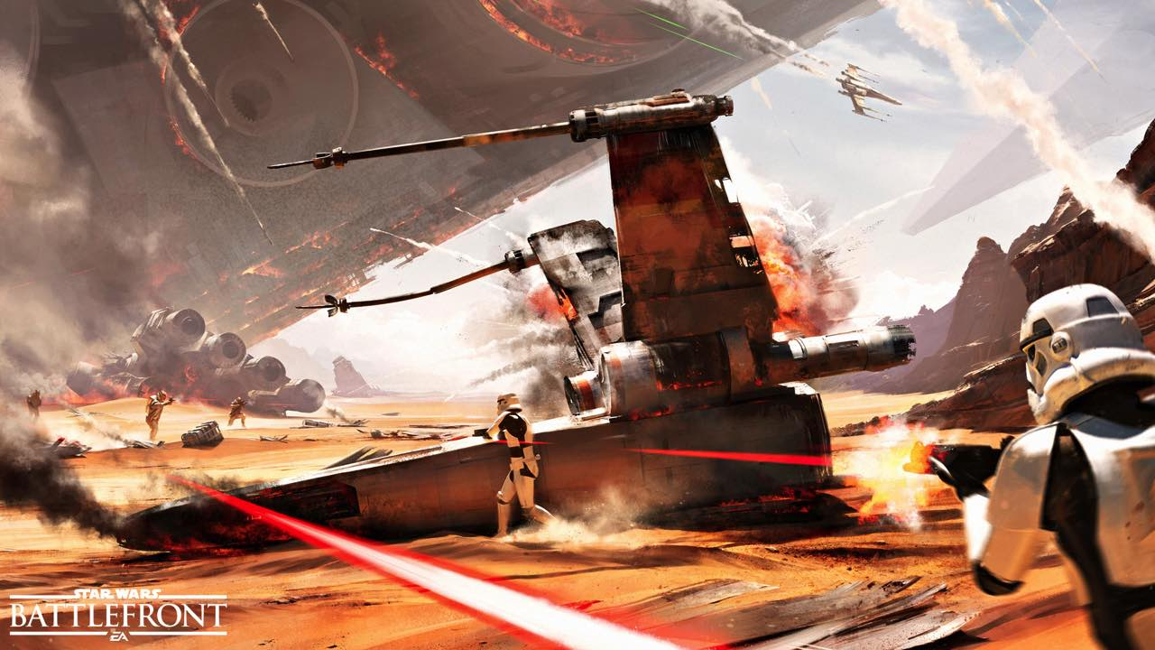 Star Wars Battlefront Getting New 40 Player Mode With Free DLC battle of jakku battlefront 1 2