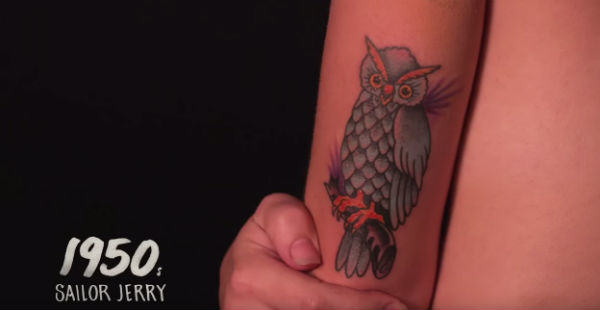 This Woman Got 11 Tattoos To Document A Century Of Ink Trends casey tattoo WEB 3