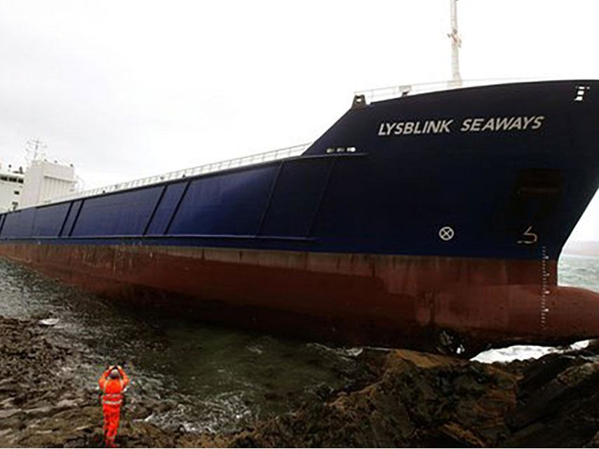 Russian Sailor Crashes Ship In Scotland After Drinking Half A Litre Of Rum crashed ship 1