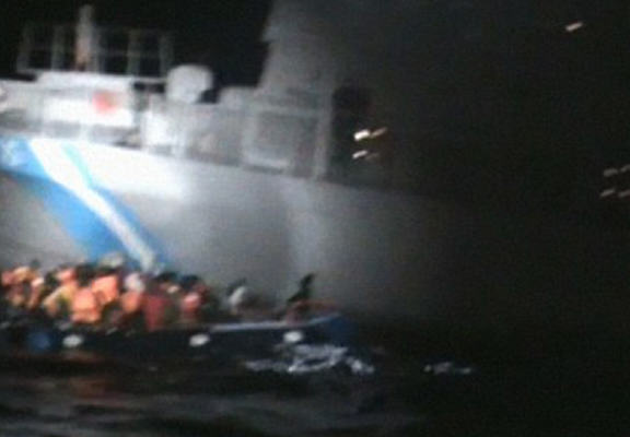 Video Shockingly Shows Greek Coast Guard Appearing To Sink Migrant Life Raft greek web1