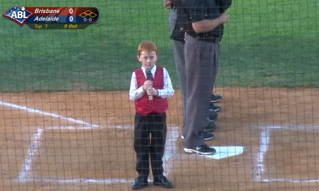 Kid Gets Hiccups Performing Australian National Anthem, Heroically Finishes Anyway hiccups